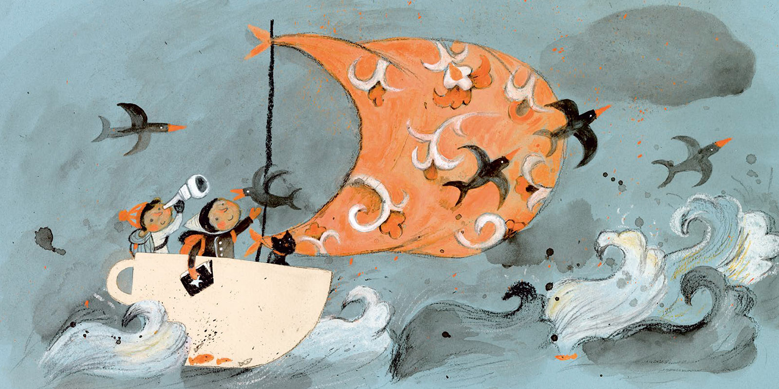 Illustration from Kyo Maclear's Story Boat book