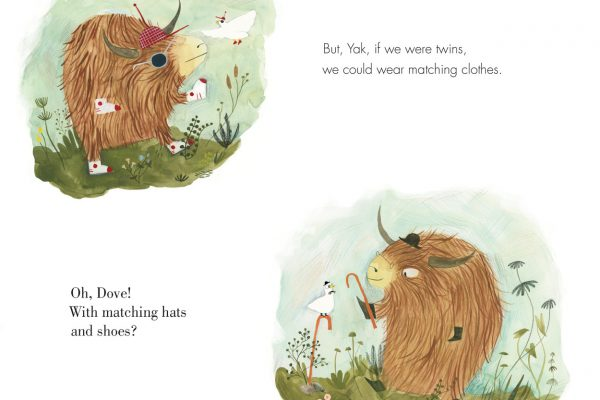 Interior pages from Yak and Dove